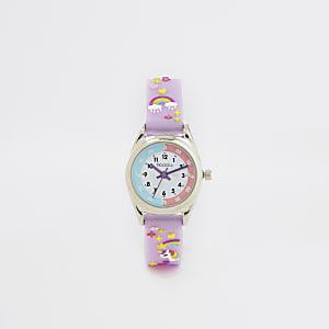 Tikkers - lila Armbanduhr zum Erlernen der Uhrzeit für kleine Mädchen