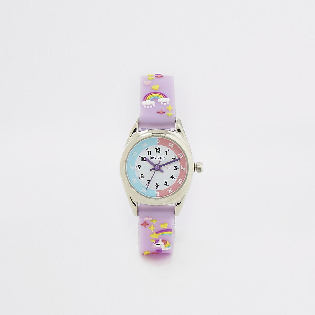 Tikkers – Montre Time Teacher violette Mini fille