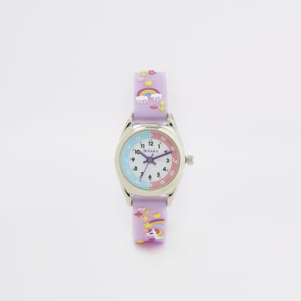 Mini girls Tikkers purple time teacher watch