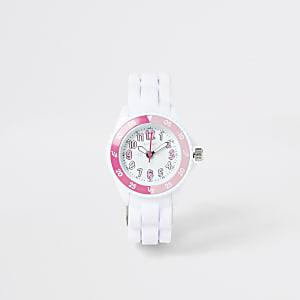 Tikkers - weiße Armbanduhr zum Erlernen der Uhrzeit für kleine Mädchen