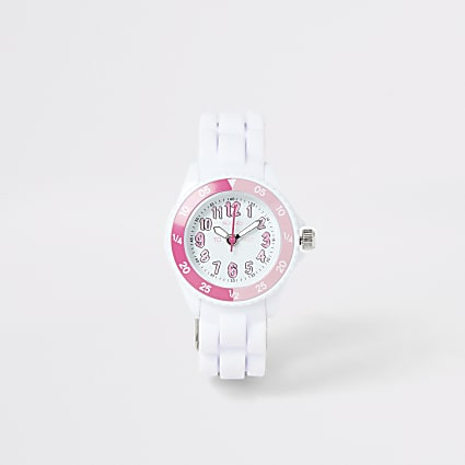 Mini girls Tikkers white time teacher watch