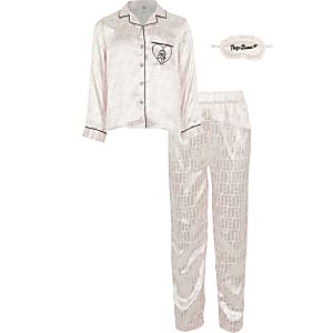 Pyjama roseà impriméRI pour fille