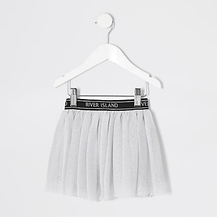 Mini girls grey RI Active mesh tutu