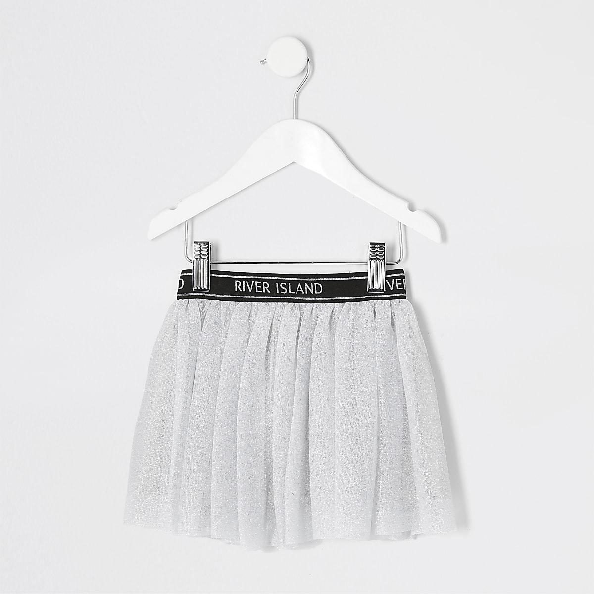 Mini girls grey RI Active mesh tutu