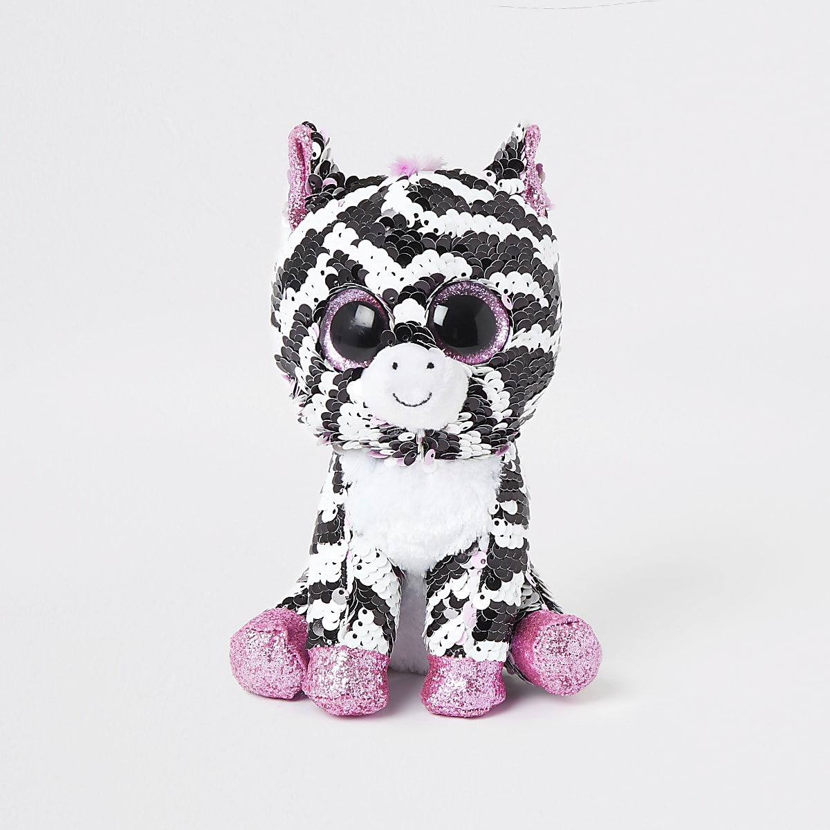 Girls TY black zebra sequin soft toy