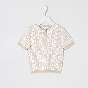 Mini girls pink RI polo shirt