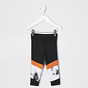 Mini girls RI Active grey marble leggings