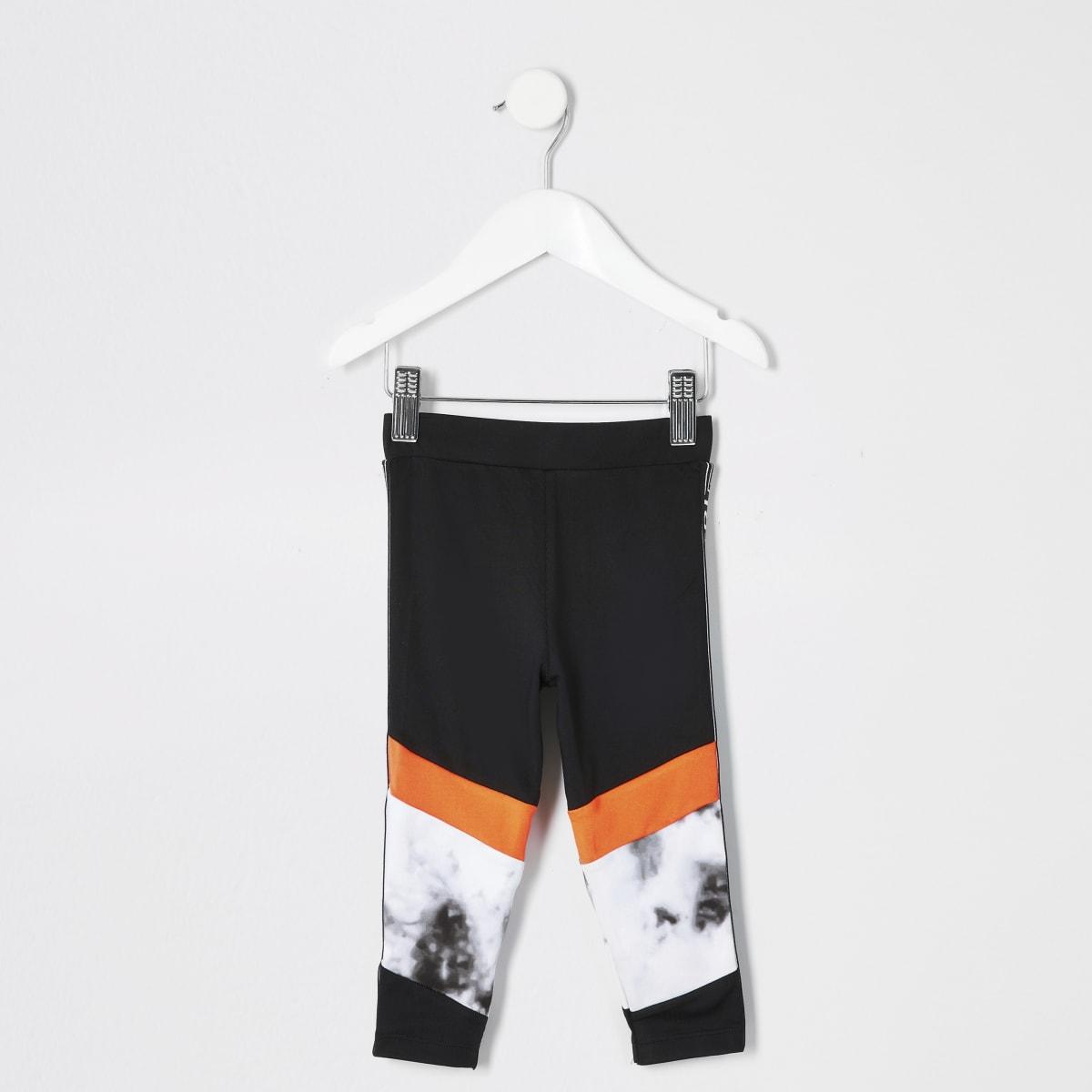 Mini -  RI Active - Grijze legging met marmerprint voor meisjes