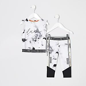 Mini - RI Active - Outfit met grijze legging voor meisjes