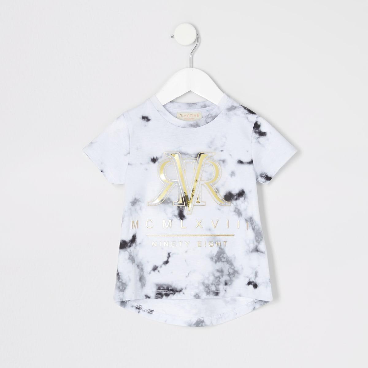 Mini -  RI Active grijs gemêleerd T-shirt voor meisjes