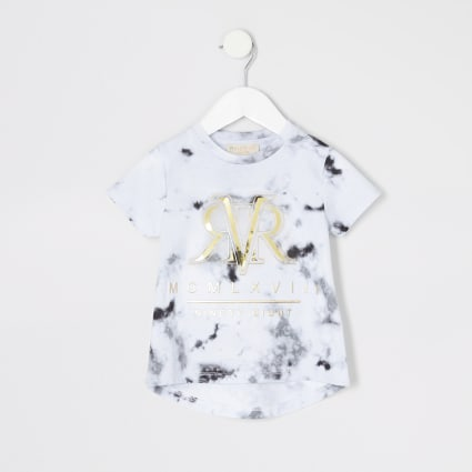 Mini girls RI Active grey marble T-shirt