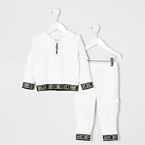 Mini girls RI Active white hoodie outfit