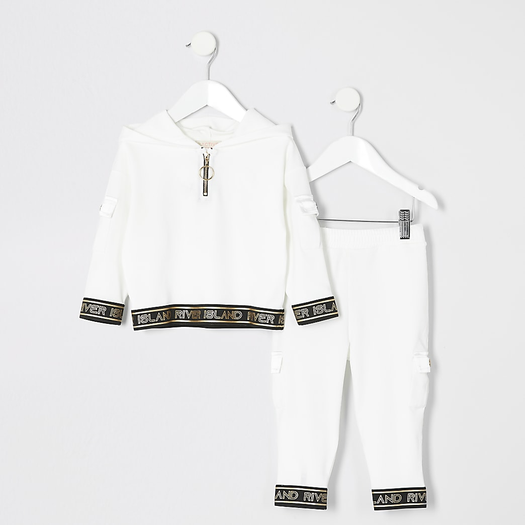Mini - RI Active - Hoodie-outfit in wit voor meisjes