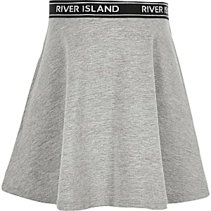 Girls grey skater skirt