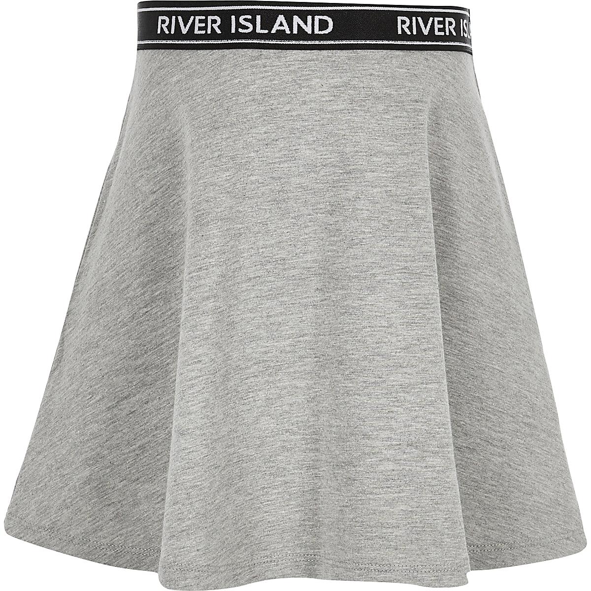 Girls grey skater skirt