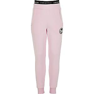 Pantalons de jogging slim rose ananas pour fille