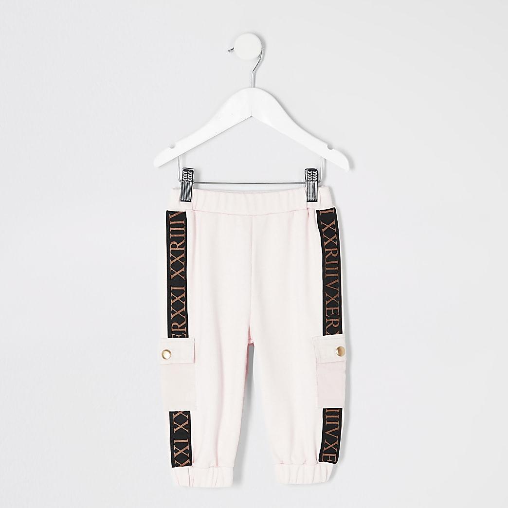 Mini - Roze utility joggingbroek voor meisjes