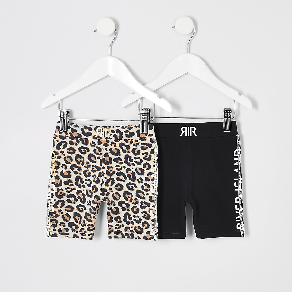 Mini girls leopard print cycling shorts set