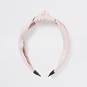 Girls pink knot headband