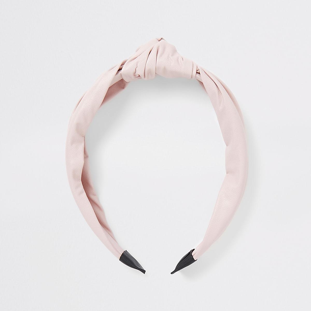 Roze, geknoopte hoofdband voor meisjes