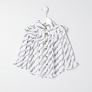 T-shirt blanc imprimé « L'amour » Mini fille