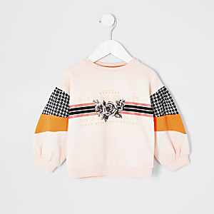 Sweat imprimé « L'amour » rose mini fille