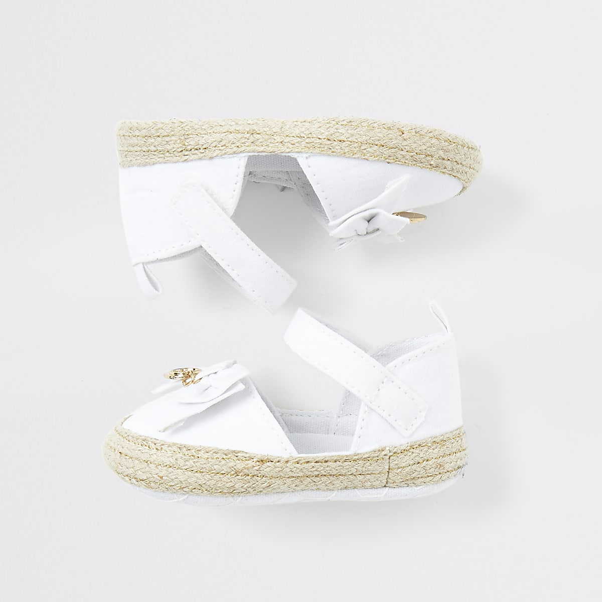 Baby white espadrille sandals
