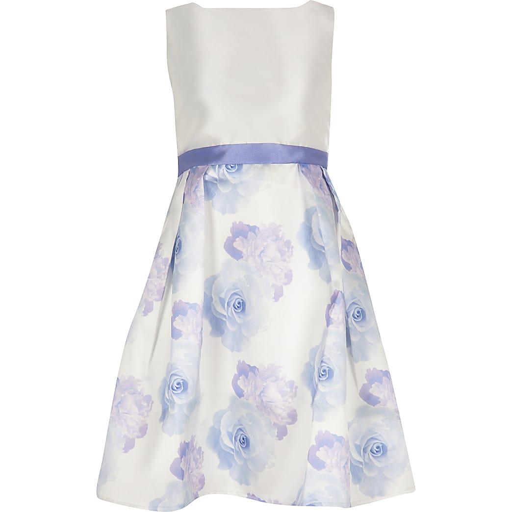 Girls Chi Chi London white floral dress