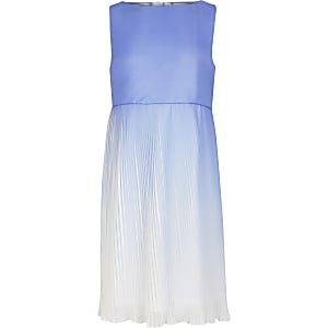 Girls Chi Chi London Blue Morgan Ombre Dress