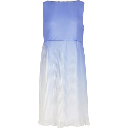 Girls Chi Chi London Blue Morgan Ombre Dress