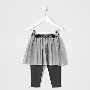 Mini girls grey RI Active tutu skirt leggings