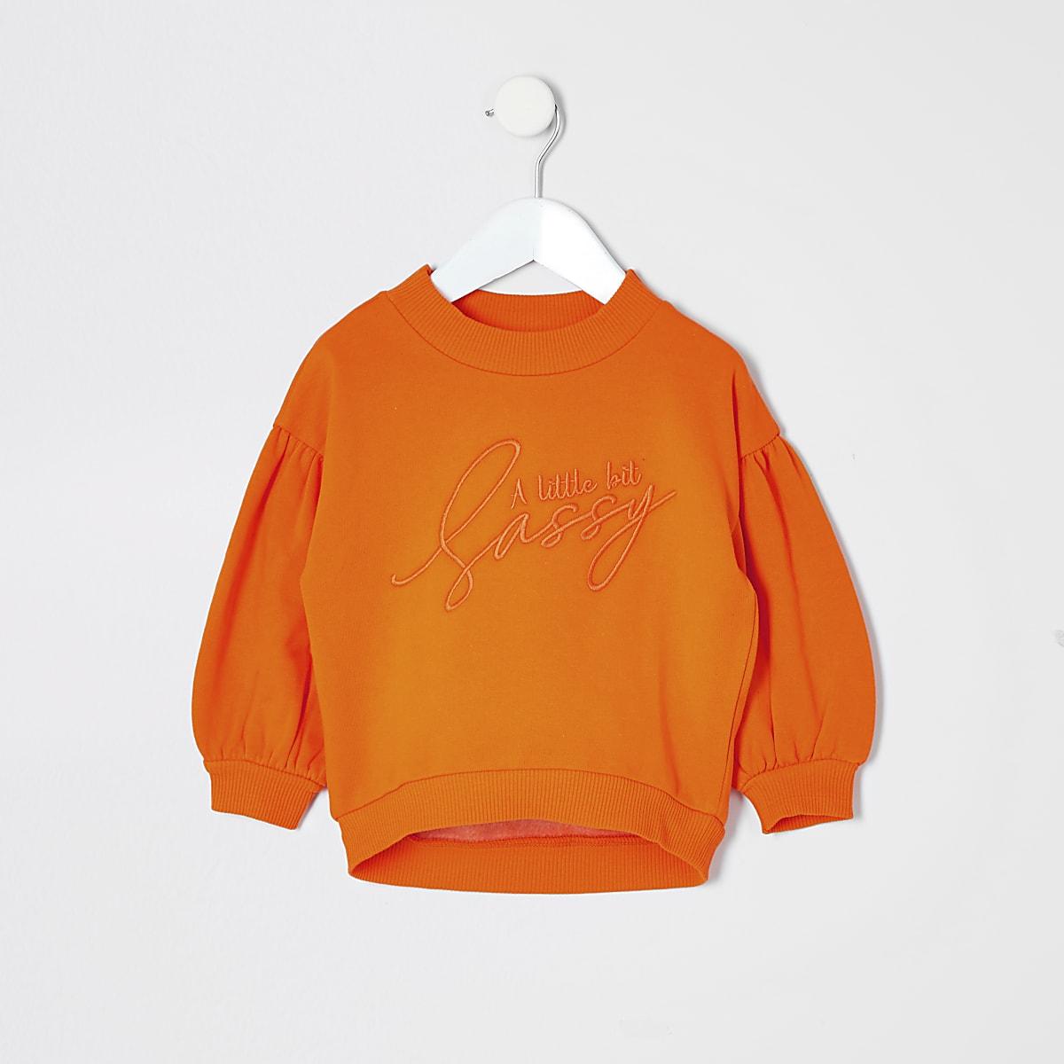 Mini girls 'a little bit sassy' sweatshirt