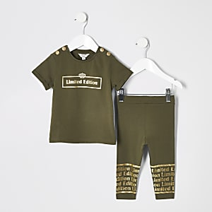 Mini girls 'limited edition' T-shirt outfit