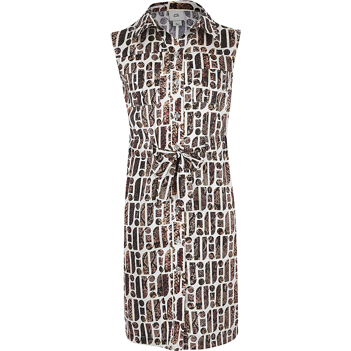 Girls RI Print Shirt Dress