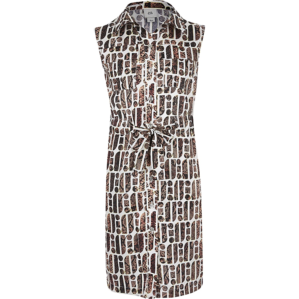 Girls RI Print Shirt Dress