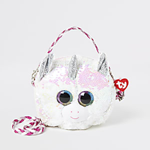 Girls TY white unicorn bag