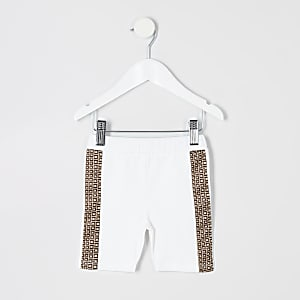 Short cycliste blanc mini fille