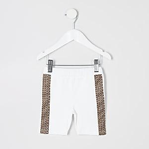 Mini - Witte wielrenshort voor meisjes