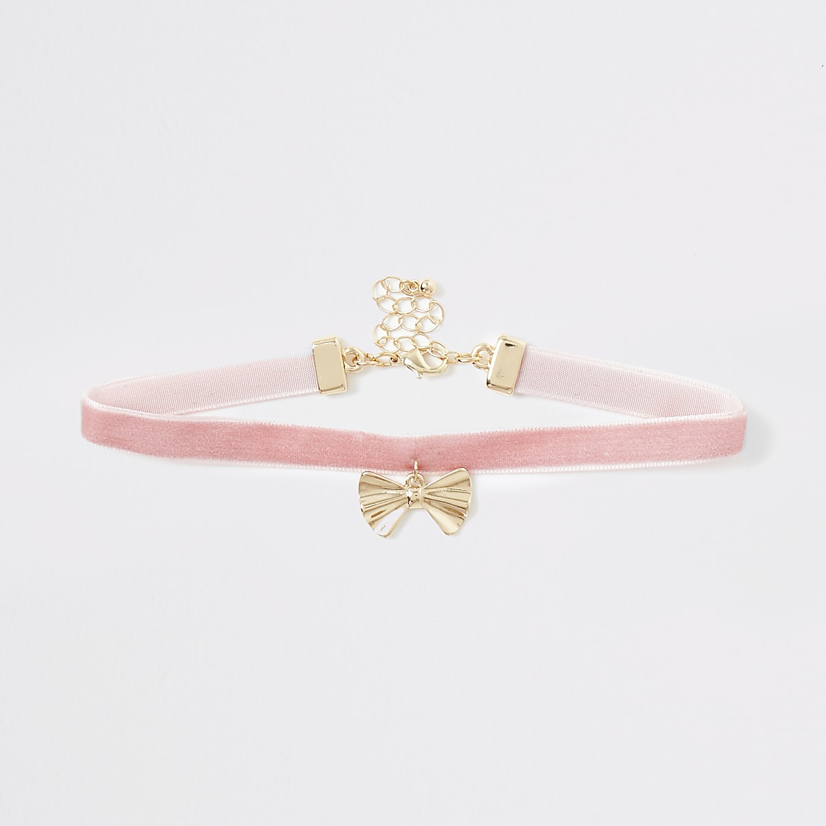 Girls pink RI heart choker
