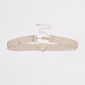 Halskette in Roségold