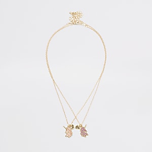 Halskette in Gold mit Einhorn
