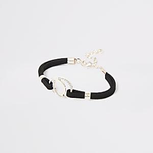 Bracelet noir avec détail cercles pour fille