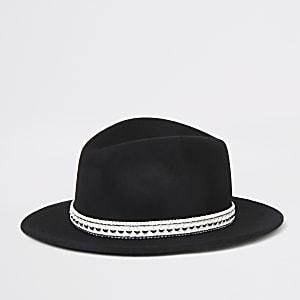 Schwarzer Fedora-Westernhut für Mädchen