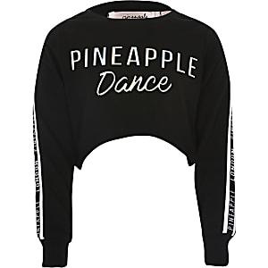 Pineapple – Crop Top mit Prägung für Mädchen