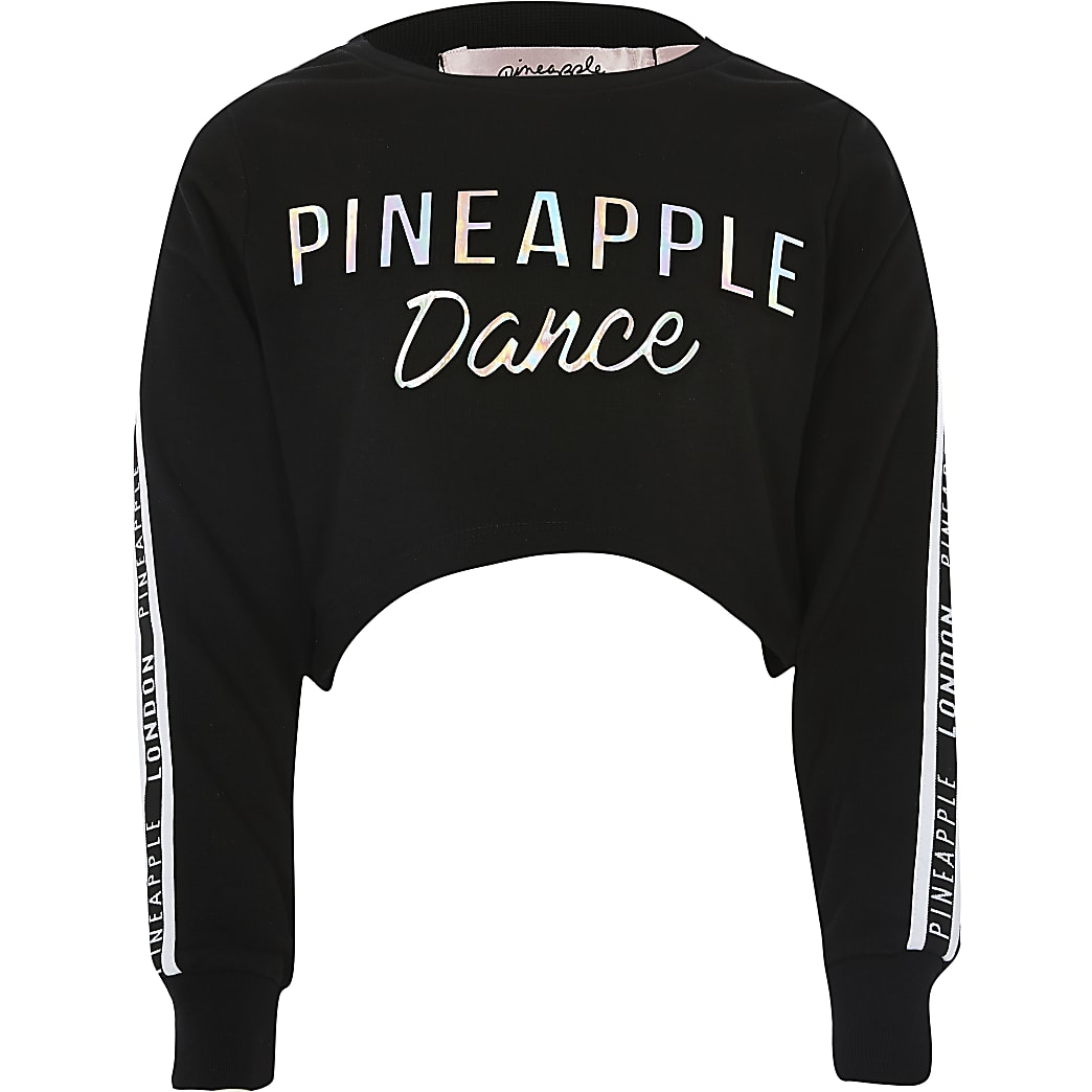Girls Pineapple embossed cropped top
