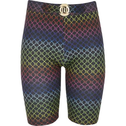 Girls RI rainbow print cycling shorts