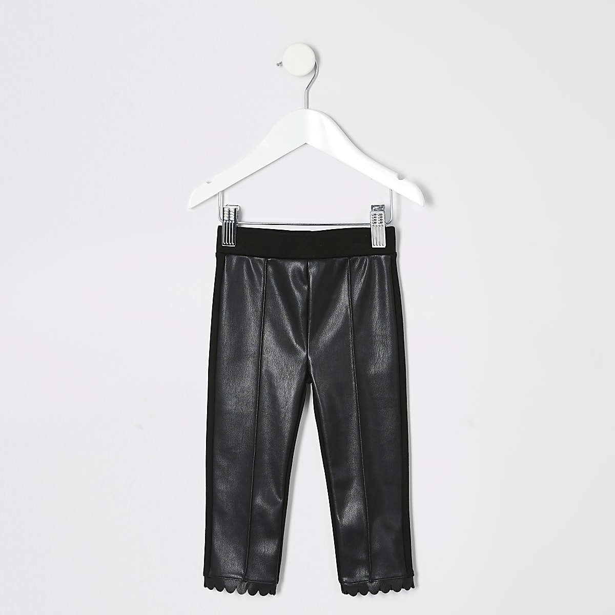 Mini - Legging met coating op de voorkant en geschulpte zoom voor meisjes