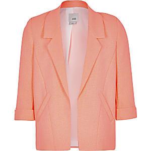 Girls neon orange blazer