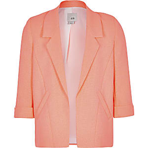 Blazer orange fluo pour fille