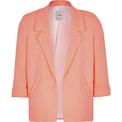 Girls neon orange blazer